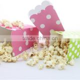 Free sample!paper popcorn box/fried chicken packaging box/open snack food box