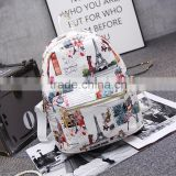 fashionable backpacks for teenager girls,pu leather backpack bag