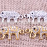 jewelry elephant crystal rhinestone connector charms ! wholesale crystal glitter jewelry Connector for bracelet beads making!!