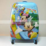 Online shopping Children Trolley School Bag Cartoon multifuction kids rolling luggage Travel bag Free Shipping