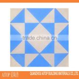 Blue texture flower flooring cement materials tile 200x200mm wholesale china home cladding brick cement panel cheap cement floor