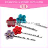 New arrival personalized multi-color flower design your own fashion bun hair pin accessories for women
