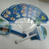 cheap price plastic folding pp hand fan