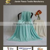 Super Soft Home Textile Throw polyester flannel Fleece blanket Plush Luxury BLANKET fresh tiffany blue color with cutting
