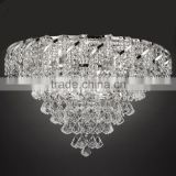 Luxury LED Crystal Ceiling Mounted Chandelier Lamp Fancy Light Lighting Fixture for Home House Decoration CZ7315C/660