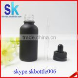 black matte glass 30ml dropper bottle for smoke oil                                                                                                         Supplier's Choice
