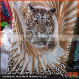 2016 China wholesale New fashion Designs 100 Polyester Tiger digital fabric printing Printed Fabric For Dress