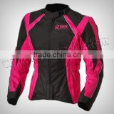 Men Motorbike Black & Pinl Beautiful Design Cordura Jacket Made of 100% Polyester 600D, Inside waterproof & Breathable fabric