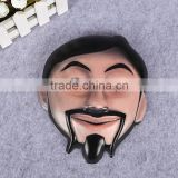 custom printed 3D embossed plastic face mask PVC halloween mask cosplay party mask for sale