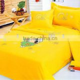 Mama Love Yellow Embroidery 100 Cotton Kids Bedding Set