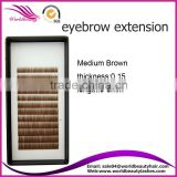 individual brow extensions for human hair eyebrow