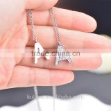 IN91221 New Design Alphabet Style Charm Pendant Initial Jewelry Stainless Steel Letter Necklace
