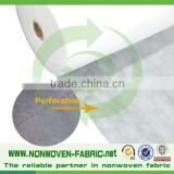 High quality PP perforated spunbond non-woven fabric with free samples and sample book