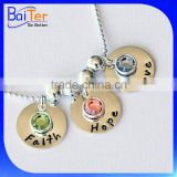 Custom 925 Sterling Silver Mothers Birthstone Pendants Customized With Birthstones                                                                         Quality Choice