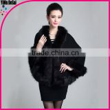 2016 New Product Women black Noble Cape Hand Made Wholesale Cashmere winter shawls