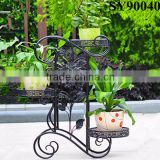 Metal tall wrought iron flower pot stands