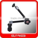 "Sunrise 11"" Articulating Magic Arm 1/4"" Hot shoe Connector Arm for Camera LED Light LCD Monitor"