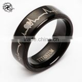 Wholesale latest design smart black thick Ring Titanium men's engagement Ring                                                                         Quality Choice