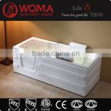 Walk In Bath Tub Bathtub with LED Light spa function massage bathtub