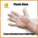 custom any size PE clear disposable grocery plastic glove