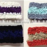 Fashion Women's Unique 100%Acrylic Big-belly Yarn Cable Knitting Striped Crochet Headbands