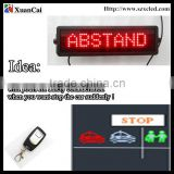 calling fixed ABSTAND courtesy words rear window suction cups LED car message display                                                                         Quality Choice