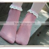 bamboo socks soft-fit Rentro Ruffle Frilly fashion no show socks for women wholesale hot selling popular lace ankle socks