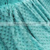 100% Polyester Fabric Cuddle Soft Opal Blue Minky Velboa Fabric                                                                         Quality Choice
