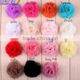 15colors 2.4inch Tulle Mesh Flowers With Hair Clips,Baby Ballerina Lace Flower Clips For Infant Hair Accessories,YDKM10
