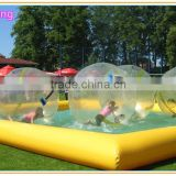 top selling adult size inflatable swimming pool/ inflatable water ball pool/ inflatable pool slides for inground pools