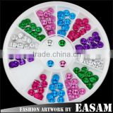 New metal nail art DIY decoration wholesale