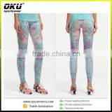 OEM Customized design Low minimum sublimation printing neoprene fitness pants hot pants yoga wear