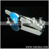 fashion elegant restrained round blue jewelry stainless profession tie clip/tie bar/tie pin
