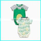 Hot selling Solid color/Plain bodysuits cute baby boy clothing                                                                         Quality Choice