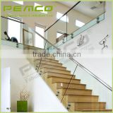 Wholesale good price anti-collision outdoor removable durable plexiglass iron stair handrail