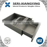 Stainless steel storage drawer with ball bearing drawer slid for work tables or cabinets or sinks