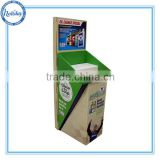 Printing Factory Carton Cleaner Floor Display, Shampoo Cardboard Countertop Display,Bottle Cardboard Floor Display