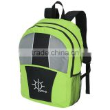 fresh lime youth laptop bag / center line laptop backpack / promotional youth colorful laptop backpack