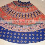 Bohemian Gypsy ethnic tribal wrap on long Colorful cotton Skirt