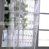 Contemporary curtain style polyester sheer embroidered curtain fabric for window treatment