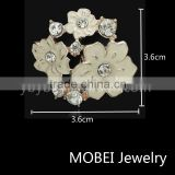 Lapel Metal Flower Handmade Boutonniere Stick Brooch Pin Men's Accessories Tuxedo Corsage Prom