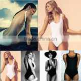 Sexy One-Piece Women Bikini Padded Backless Cut-out Swimwear Suit Monokini Black