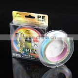 Multi-color fishing line 100M PE Multifilament Braided Fish Line 90-105lb Carp Fishing Rope Cord