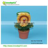Terracotta Garden decoration sunflower bonsai plant pot sale