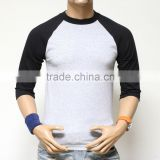 Short sleeve blank men t-shirts, 3/4 sleeve baseball t-shirt