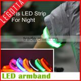 Cheap price sports safety running reflective warning night arm belt