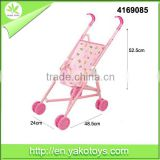 Hot pink baby carrier toy car doll stroller for kids play