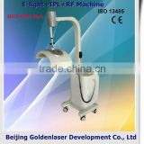 Fine Lines Removal Www.golden-laser.org/2013 New Style Acne Removal E-light+IPL+RF Machine Esthetic Device Remove Diseased Telangiectasis