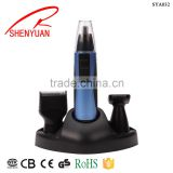 China supplier manual electric nose hair trimmer/ shaver/ body grooming