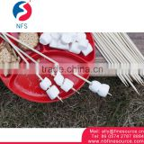 Good Quality Disposable Flexible Round Bamboo Marshmallow Roasting Sticks